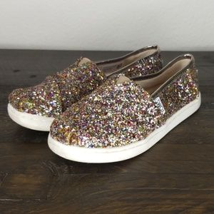 Toms Rainbow Glitter Sneakers size 1.5